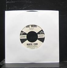 "Sal Mure - Morse Code / Desire VG+ 7"" Vinyl 45 1958 UA 153 X USA Promo"