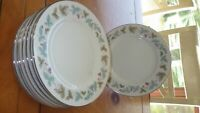 "Bread Butter Plates Vintage by Fine China of Japan 8 6"" plates circa 1967 EUC"