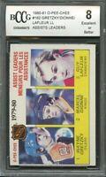 1980-81 o-pee-chee #162 WAYNE GRETZKY/DIONNE/GUY LAFLEUR leaders BGS BCCG 8
