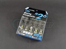 Project Kics R26 Racing Composite Lug Nuts Black Chrome 12 x 1.25mm (20 pcs)