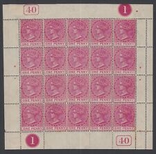 1882 St Kitts QV sg 13 1d Unmounted Mint sheet of stamps as displayed.