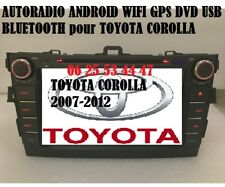 Autoradio Android WIFI GPS BT DVD USB pour TOYOTA COROLLA (2007-2011) + CAMERA