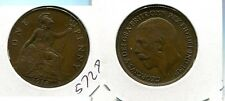 Great Britain 1918 One Penny Coin Xf 5728G