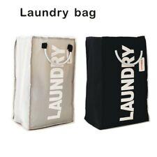Foldable Washing Laundry Basket Hamper Cotton Bag Clothes Storage Bin Save Space