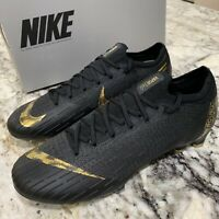 Men's Nike Vapor 12 Elite FG Soccer Cleats Size 7.5 Black/Vivid Gold AH7380-077