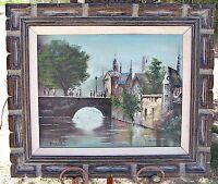 Original Oil on Canvas, French Landscape, Signed, Framed