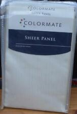 Colormate Sheer Platinum Voile Panel - Oyster Color - Brand New In Package 59X63