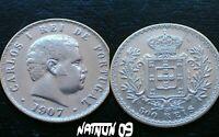 PORTUGAL / 500 REIS - 1907 / D. CARLOS I / SILVER COIN