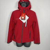 WOMENS BNWT MOUNTAIN WAREHOUSE RED VICAN SHOWERPROOF COAT JACKET HOODED UK 8