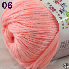 Sale 1 Skein x50g Baby Cashmere Silk Wool Children hand knitting Crochet Yarn 06