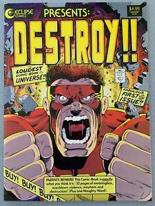 DESTROY!! ECLIPSE GIANT COMIC SCOTT McCLOUD NOV 1986 FIRST PRINTING 11x15 VF?