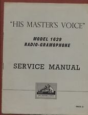 More details for  service manual 'his master's voice' 1629 radio -gramaphone   ya.17