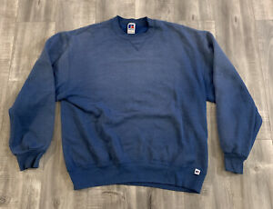 Vintage 90s Russell Athletic Blue Sweatshirt Size Large Made In USA