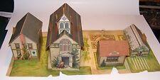 RARE 1897 McLoughlin Bros. The New Pretty Village Church Set
