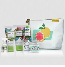 L'Occitane Herbae Gift Set Pouch Bag Eau de Parfume Beauty Milk Cream Travel Kit