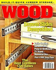 WOOD #239 May 2016 Build it Quick Lumber Storage Drawer Slides Patio Seating