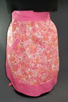 Vintage Ladies Half Cotton Pink Apron