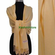 Women's Soft Solid Baby Yellow PASHMINA/Cashmere Classic SHAWL Scarf Stole WRAP