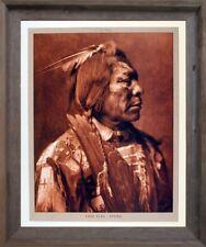 Lone Flag - Atsina Native American Barnwood Framed Wall Decor Picture Art 19x23