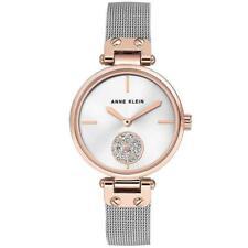 Anne Klein Swarovski Rose Gold Mesh Ladies Watch - AK3001SVRT