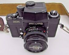 Vintage Minolta XK 35mm Camera with 49mm 1:2 Md Rokkor-X Lens parts or repair