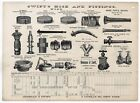 1890s SWIFTS FIRE HOSE HYDRANTS FIREFIGHTING ENGINEERS TOOLS DONEGAN SWIFT NY