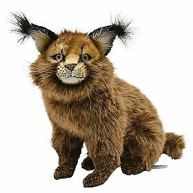 HANSA  CARACAL CAT PLUSH TOY STUFFED ANIMAL HANDCRAFTED #7047