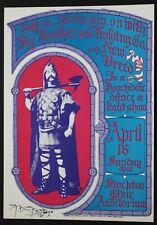 Aor-3.22 Janis Joplin/Big Brother Stockton Civic Auditorium 4/16/67 Signed Nm!