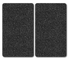 Kesper 36522 2-Piece Multi-Glass Chopping Board / Worktop Saver Set 52x30x0.9 cm