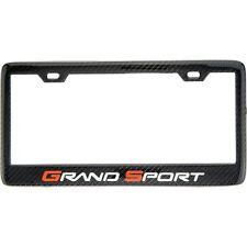 SHOW QUALITY! Carbon Fiber Chevrolet Grand Sport Corvette License Plate Frame C6
