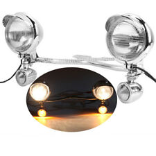 New listing Driving Passing Turn Signals Spot Light Lamp for Harley Davidson Fatboy Flstf