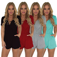 Women Beach Jumpsuit Clubwear Bodycon Playsuit Romper Short Pants Trouser Lot