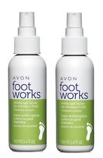 2x AVON FOOT WORKS Antifungal Spray For Athlete's Foot Tolnaftate Solution 3.4oz