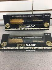 NEW Gold Magic Professional Hot Electric Styling Brush GM-HB1