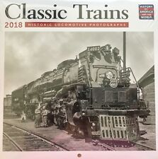 "2018 CLASSIC TRAINS MINI WALL CALENDAR 7"" X 7"" NEW / SEALED"