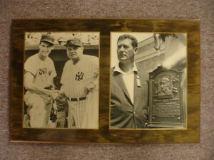 Ted Williams (Red Sox) & Babe Ruth (Yankees) Plaque Display-HOF Plaque