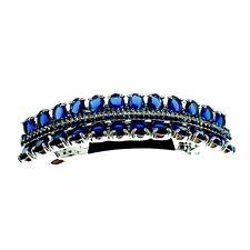 USA BARRETTE use Swarovski Crystal Hair Clip Hairpin Elegant SIMPLE Blue K07