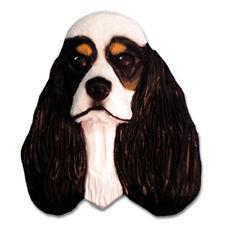American Cocker Spaniel Head Plaque Figurine Tri