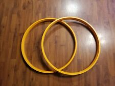 "700c Single Wall Wide Cruiser Bike Rims 32 Spoke 2"" Wide Orange Fat Bike"