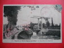 NOYERS ( St-Aignan-sur-Cher )  :  La Gare d'Eau et le Pont-levis......VO.1903.