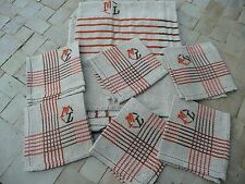 nappe + 6 serviettes basque ancienne