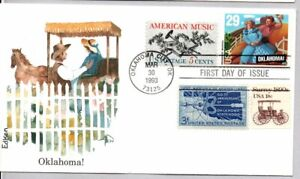 #2722 OKLAHOMA! MUSICAL STAMP COMBO EDKEN FIRST DAY COVER, OKLAHOMA CITY