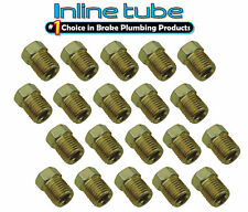 3/8-24 Inverted Flare Gold Zinc Tube Nut Fitting 3/16 Brake Line Tubing 20pc Set