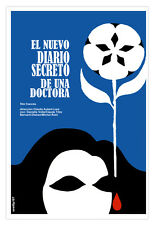Decor Graphic Design movie Poster for French film.Secret doctor DIARY.Blood tear