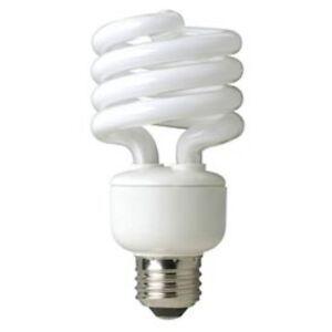 TCP E26 CFL Compact Fluorescent Twist Light Lamp Spiral 23W 5000K = 100W 24225