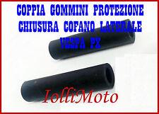 COPPIA GOMMINO PROTEZIONE CHIUSURA COFANO MOTORE VESPA PX 125 150 200