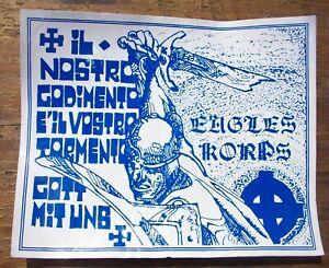 Adesivo ULTRAS Anni 80 - EAGLES KORPS Lazio