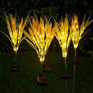 2Pcs Garden Led Solar Wheatear Lamp Yard Villa Waterproof Decoration Lawn Light