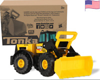 Tonka Classic Steel Front End Loader Vehicle outside construction job kid toys