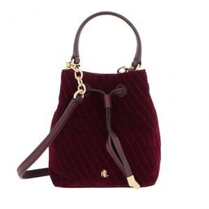 Lauren Ralph Lauren Debby Quilted Velvet Drawstring Mini Bag